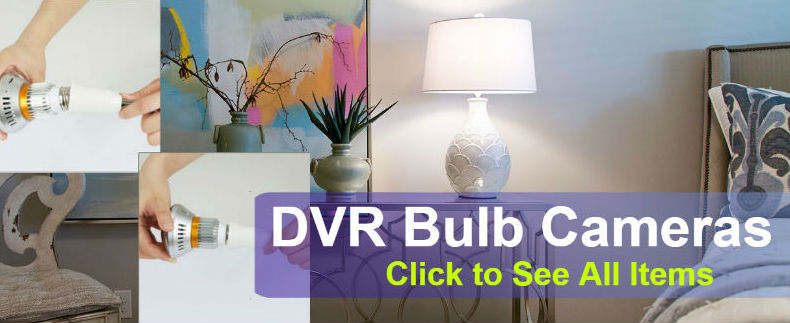 DVR Light Bulb Cameras