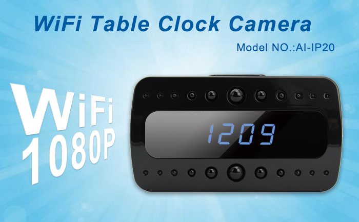 Wi Fi Table Clock Camera