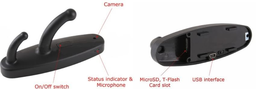 Clothes Hook Mini Recorder Spy Camera 02
