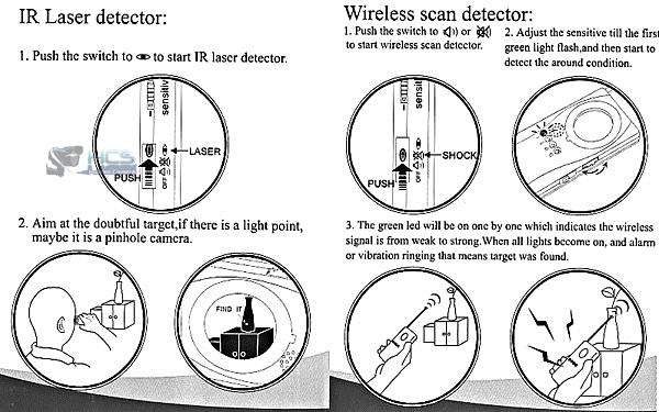 WiFi & Pinhole Spy Camera Finder