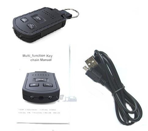 Motion Detection Car Key Camera Dvr Hidden Camera