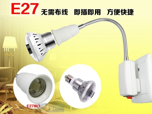 720P LED Bulb Spy Camera with Motion Detection Recording
