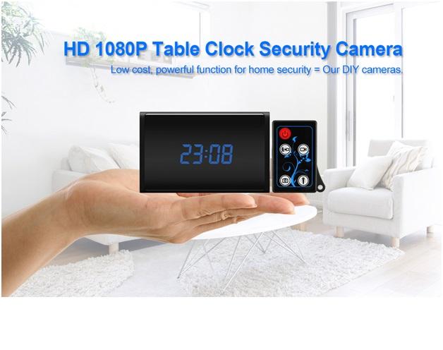 HD 1080P NO Glow IR Clock Camera 2