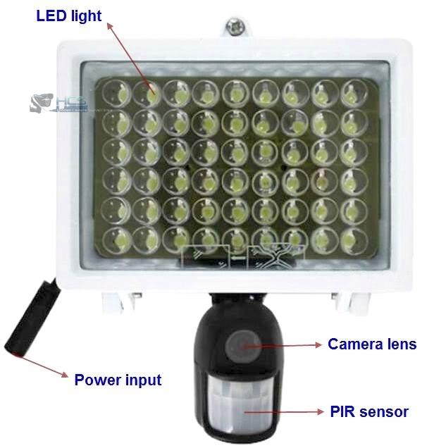 LED Flood Light Hidden Camera & Motion Detection Recorder