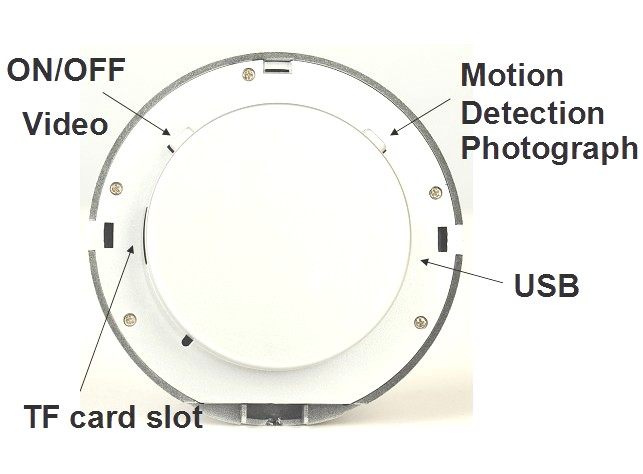 mirror spy camera recorder with motion detection