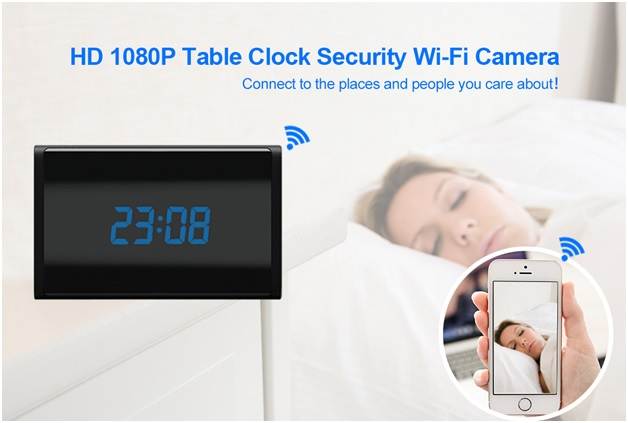 HD 1080P WiFi Clock Camera 1