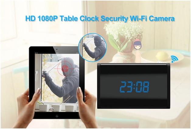 HD 1080P WiFi Clock Camera 3