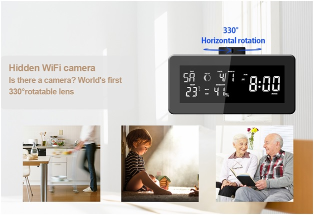 HD 1080P WiFi Weather Station, Clock Radio Camera 2