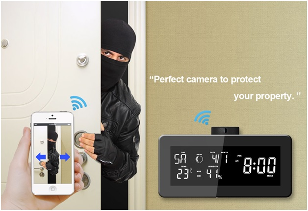 HD 1080P WiFi Weather Station, Clock Radio Camera 3